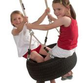 Langley Rope and Tyre from our children's Garden Swings,Garden Swing attachments range