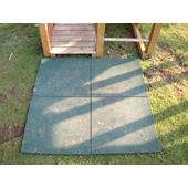 Green rubber tile from our children's Garden Swings range