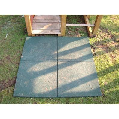 Green rubber tile from our children's Childrens Slides range