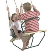 Langley Timber twin seat from our children's Garden Swings range