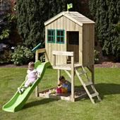 TP Forest Cottage with wavy slide from our children's Playhouses range