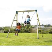 Forest Double Swing 2 (TP) from our children's Wooden Garden Swing Frames range