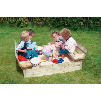Houtland Sandbox with folding cover from our children's Sandpits range