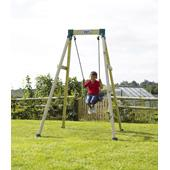 Forest Single Swing 2 (TP) from our children's Wooden Garden Swing Frames range
