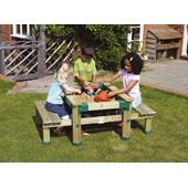 Forest Deluxe Picnic Table Sandpit (TP) from our children's Garden Games range