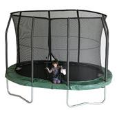 Jumpking OvalPOD Trampoline package (8ft x 11.5ft) with free ladder