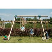 Houtland Double Swing Frame (incl 2 seats) from our children's Wooden Garden Swing Frames range