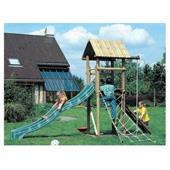 Houtland Playtower with slide and double swing from our children's category range