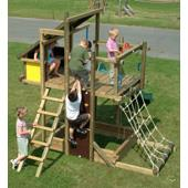 Houtland Adventure Tower with slide from our children's Climbing Frames range