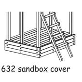 Houtland Cover for Watch Tower Sandbox from our children's Climbing Frames range