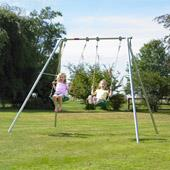 TP Double Giant Swing Frame from our children's Metal Garden Swing Frames range