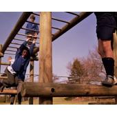 Langley®Play Fort and Ladder Walk with straight end from our children's Climbing Frames range