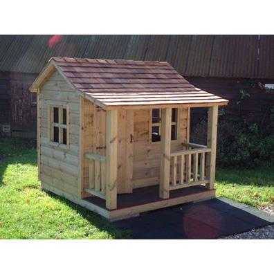The Langley Play House with Cedar Shingle Roof (6ft x 6ft including veranda) including assembly/installation from our children's Playhouses range