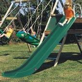 Green Rapide Slide body (TP) from our children's Slides for climbing frames range