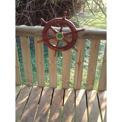 Captain's Steering Wheel (Wooden) from our children's Climbing Frames range