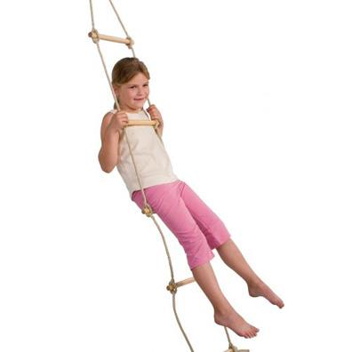 Langley five rung rope ladder from our children's Climbing Frame Accessories range