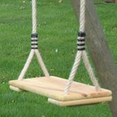 Houtland Double Swing with Ladder, Platform and Slide from our children's Garden Swings,Swings with Climbing Frames,Wooden Garden Swing Frames range