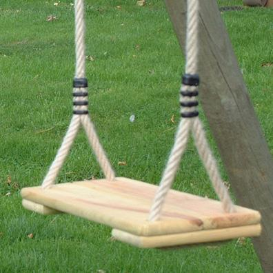 Langley wooden swing seat garden swings buy online for How to build a swing set for adults