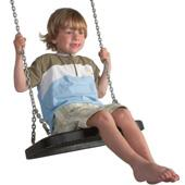 Langley Rubber swing seat with chains (black) from our children's Garden Swings range