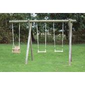 Langley Double Extended Swing Frame from our children's Garden Swings range