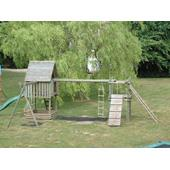 Langley® Play Fort Ladder Walk and Swing Combination from our children's Bespoke Climbing Frames range