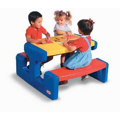 Large Picnic Table in Primary colours (Little Tikes) from our children's Garden Games range