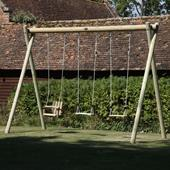 Langley Single Swing Frame from our children's Garden Swings,Wooden Garden Swing Frames,Childrens Garden Swings range
