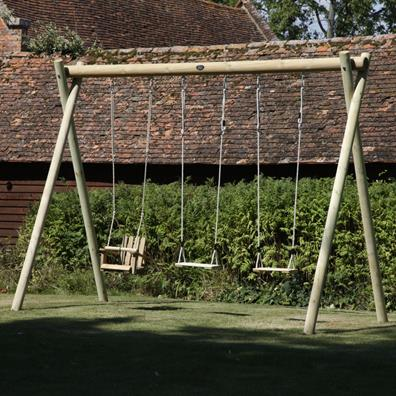 Langley Triple Swing Frame from our children's Garden Swings range