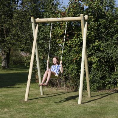 Langley single swing frame garden swings buy online for How to build a swing set for adults