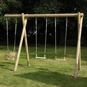 Langley Double Extended Swing Frame from our children's Childrens Garden Swings range