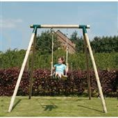 Houtland Single Swing Frame (incl 1 seat) from our children's Wooden Garden Swing Frames range