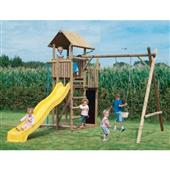 Houtland Skyscraper with slide and double swing from our children's Special Offers range
