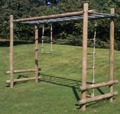 Langley® Ladderwalk freestanding with two straight ends from our children's Climbing Frames range