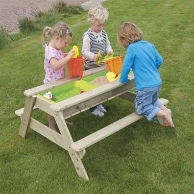 tp deluxe picnic table sandpit from our childrens garden furniture range
