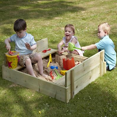 TP Wooden Lidded Sandpit from our children's Sandpits range