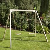 TP Forest Double Multiplay from our children's Garden Swings,Wooden Garden Swing Frames,Swings with Climbing Frames range