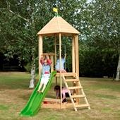 TP Castlewood Tower with Wavy Slide from our children's Climbing Frames range
