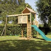 TP Kingswood2 Tower and Swing Arm with Crazy Wavy Slide from our children's Climbing Frames range