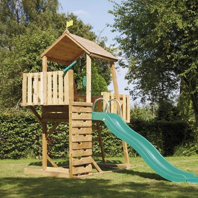 TP Kingswood2 Tower with Crazy Wavy Slide from our children's Climbing Frames range