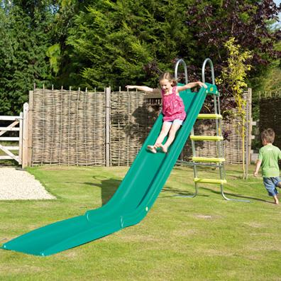 Rapide slide with stepset package in GREEN (TP) from our children's Childrens Slides range