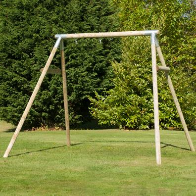 TP Knightswood Double Round Wood Swing Frame from our children's Garden Swings range