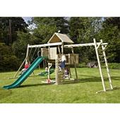 TP Kingswood2 Tower and Swing Arm with Crazy Wavy Slide from our children's Climbing Frames,Wooden Climbing Frames range