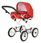 BRIO Combi Doll Pram in Red with Dots from our children's Indoor Toys range
