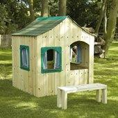 TP Forest Villa House and Bench from our children's Wooden Playhouses range