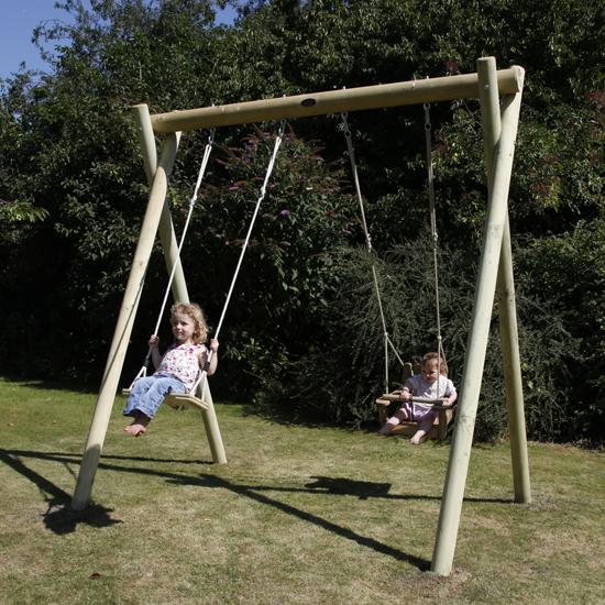 Building A Large Wooden Swing Frame For The Kids How To