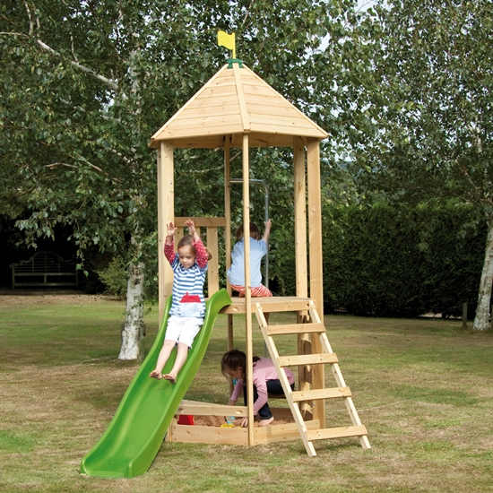 TP Castlewood Tower with Wavy Slide | Climbing Frames | Buy online ...