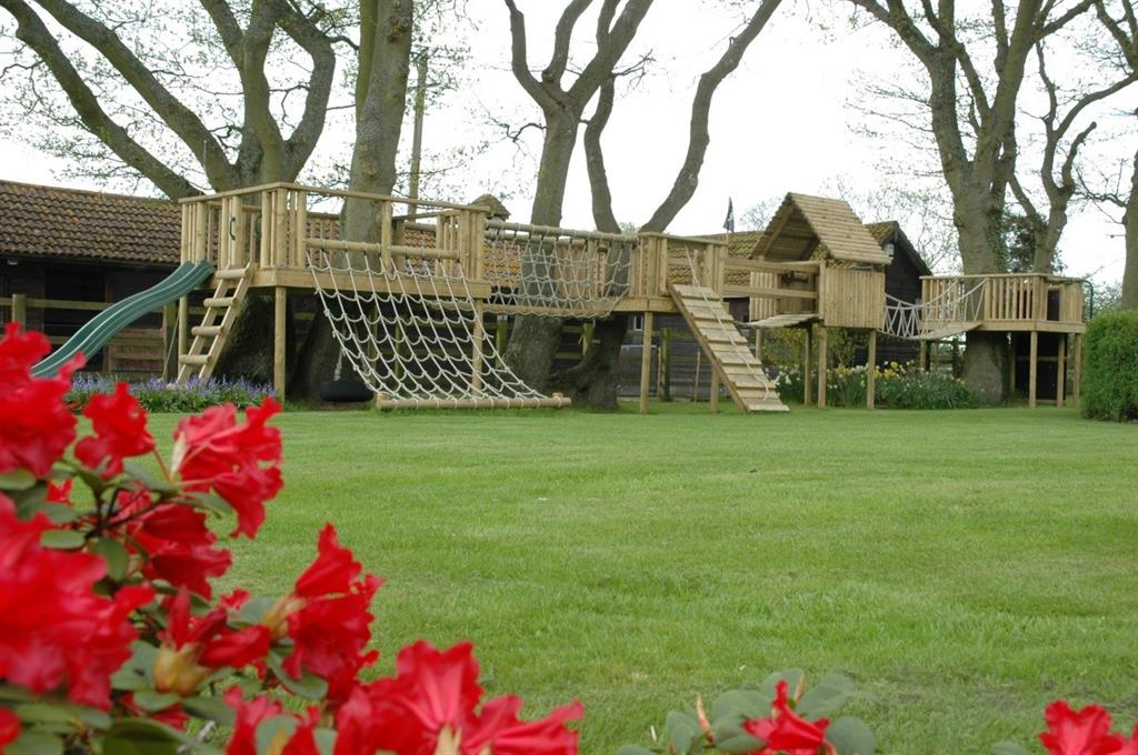 Multiple Langley bespoke platforms and accessories tailor-made around several trees